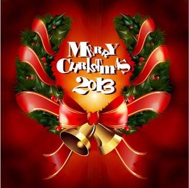2013 merry christmas elements vector set