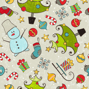 2013 merry christmas pattern elements vector set