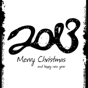2013 new year39s theme 04 vector