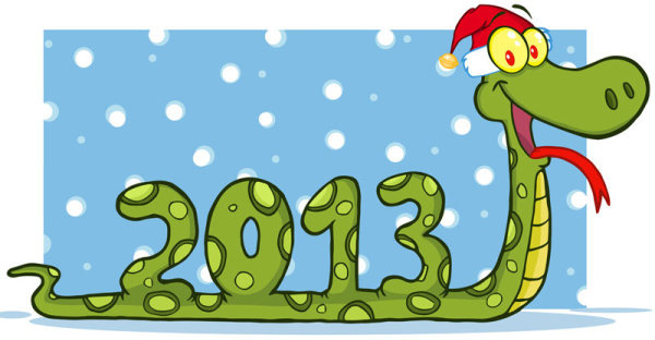 2013 snake new year cards vector graphics