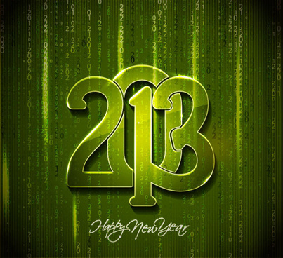 2013 wordart design vector set