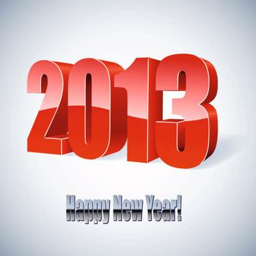 2013 wordart design vector set
