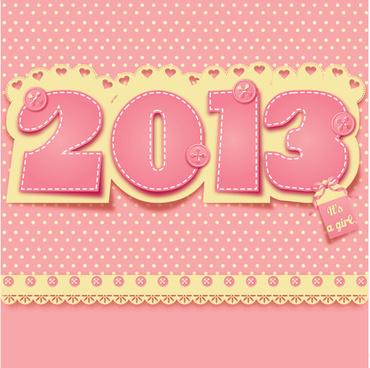 2013 year design elements vector