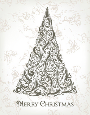 2014 abstract christmas tree design vector