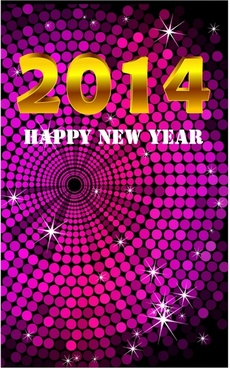 2014 Beautiful New Year Celebration Background