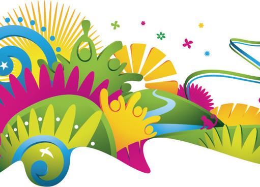 2014 brazil world cup creative design vector