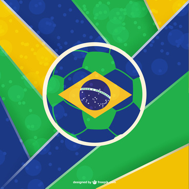 2014 brazil world football tournament vector background