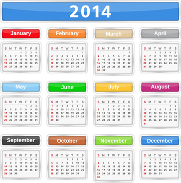 2014 calendar picture | free download | vector cdr image | 724×966.