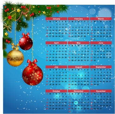2014 calendar happy new year