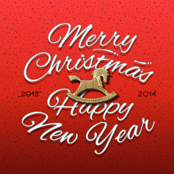 2014 christmas background with trojan vector