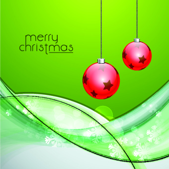 2014 christmas baubles with holiday backgrounds vector