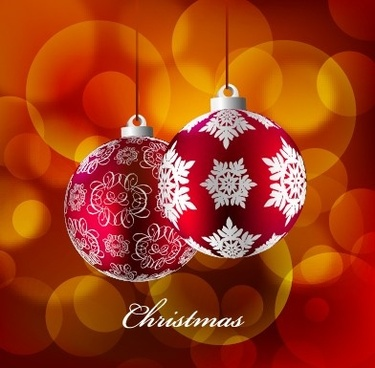 2014 christmas colored baubles design vector
