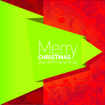 2014 christmas creative origami background vector