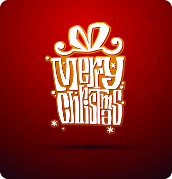 2014 christmas elements with dot backgrounds