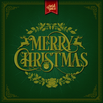 2014 christmas floral frame background vector