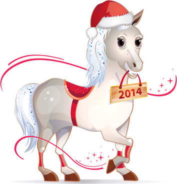 Christmas Horse Cartoon.Vector Christmas Horse Free Vector Download 7 819 Free