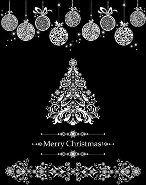 2014 christmas ornate elements vector