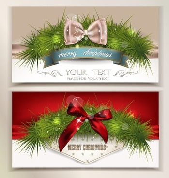 2014 christmas pine needles with bow cards