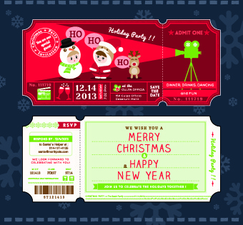 2014 christmas ticket vector