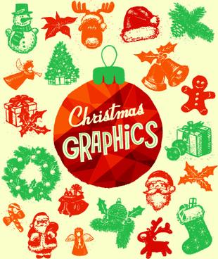 2014 christmas vintage decoration set