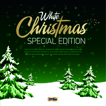 2014 christmas winter vector backgrounds