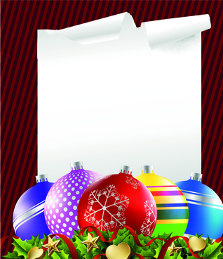 2014 colored christmas balls background vector