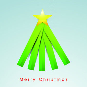 2014 funny christmas tree design vector