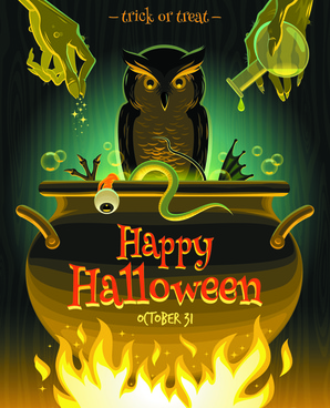 2014 halloween art background vector