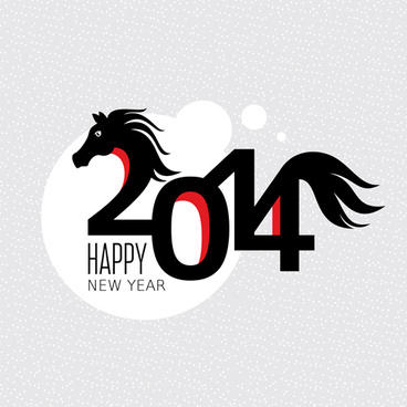 2014 horse new year design vecotr