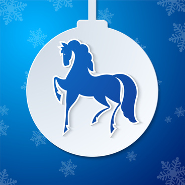 2014 horse year creative vector background