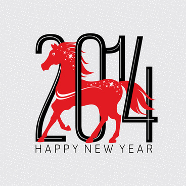 2014 horse year creative vector background