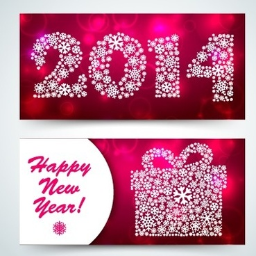 2014 merry christmas cards vector