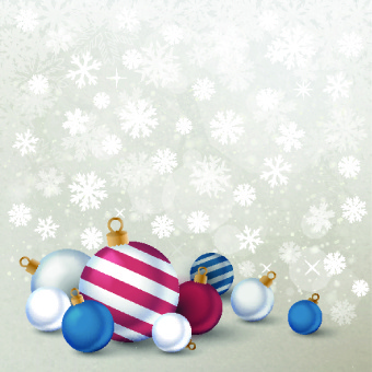 2014 merry christmas decor ball vector background
