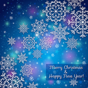 2014 merry christmas snowflake background graphics