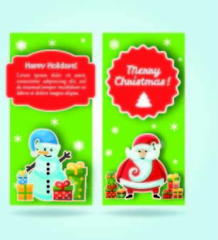 2014 merry christmas vector cards