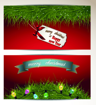 2014 merry christmas vector cards set