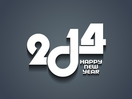 2014 new year background vector graphics