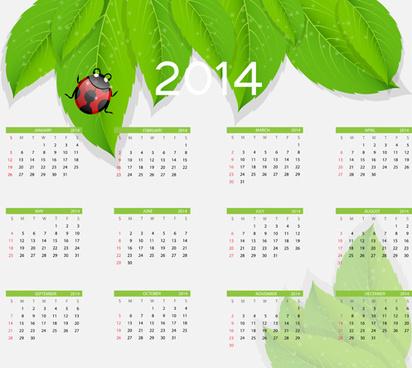 2014 new year calendar design vector