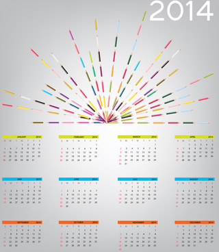 2014 new year calendar design vector