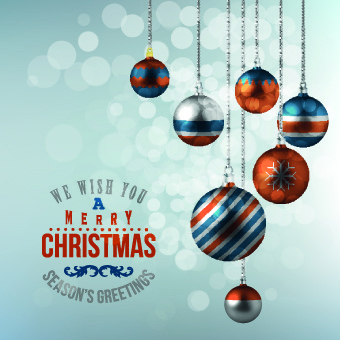 2014 new year christmas ornaments vector