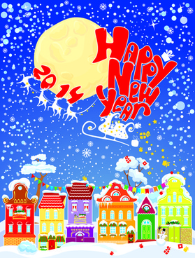 2014 new year city vector