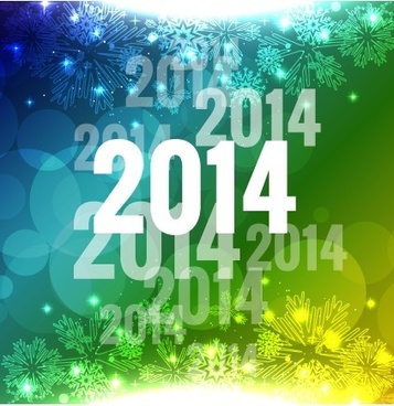 2014 new year creative backgrounds vector