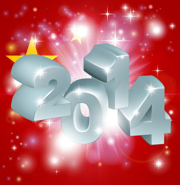 2014 new year creative design vectors