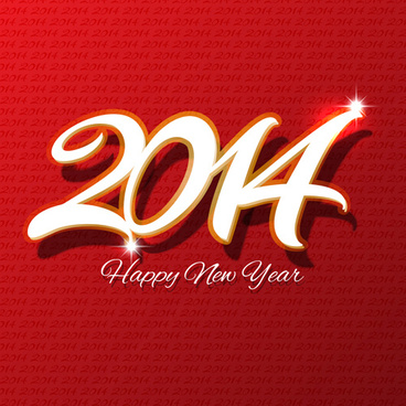 2014 new year design background graphics