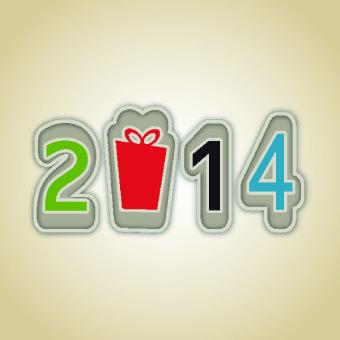 2014 new year design elements vectors