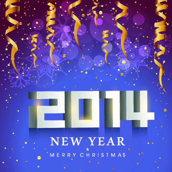 2014 new year holiday vector background