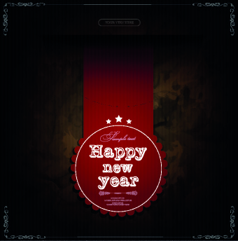 2014 new year labels vector