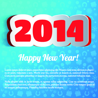 2014 new year poster background vector design