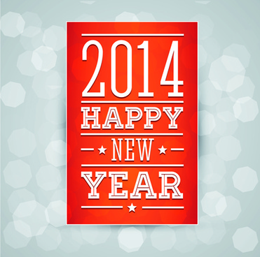 2014 new year poster design vector