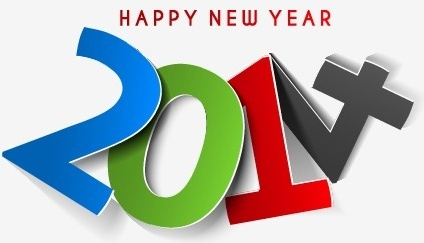 2014 new year text design vector